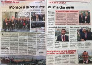 article 'Monaco à la conquete du marché russe' - 6 octobre